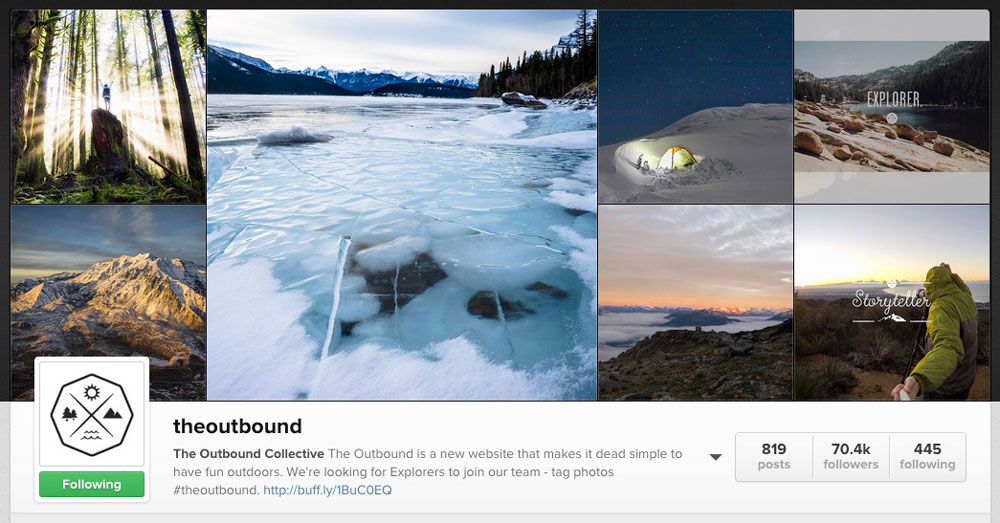 the outbound instagram