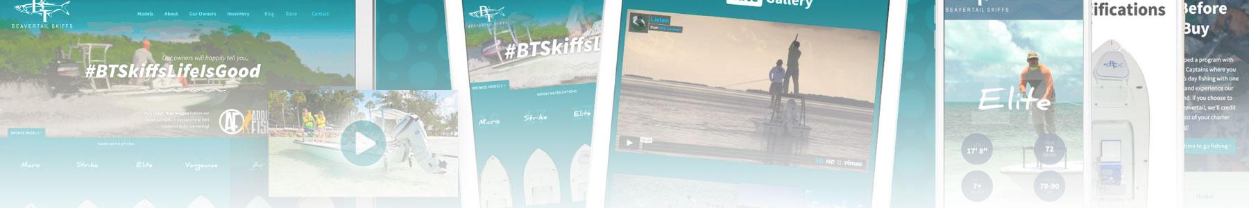 boat website design process